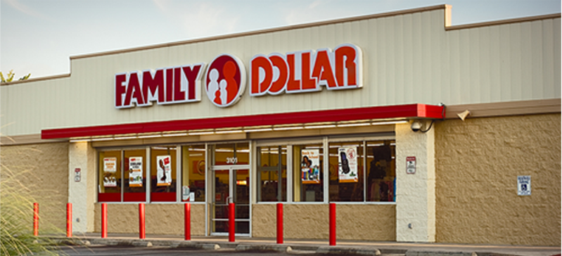 Family Dollar Store in Columbia Heights, MN.