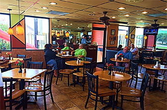 Golden Chick storefront.  Your local Golden Chick fast food restaurant in Mineral Wells, Texas