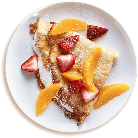 Picture of STRAWBERRY & ORANGE CREAM CHEESE CREPE