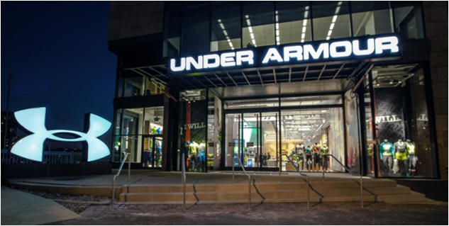 Under Armour storefront. Your local Sports Apparel, Shoes, & Accessories in Baltimore, MD