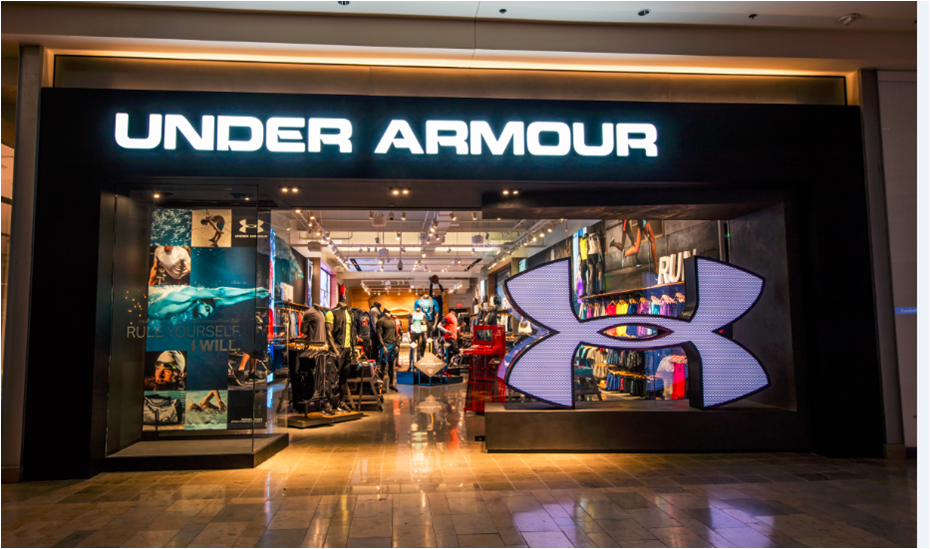 Under Armour, located at Wrentham Village Premium Outlets®: Under Armour delivers innovative sports apparel, shoes & accessories.