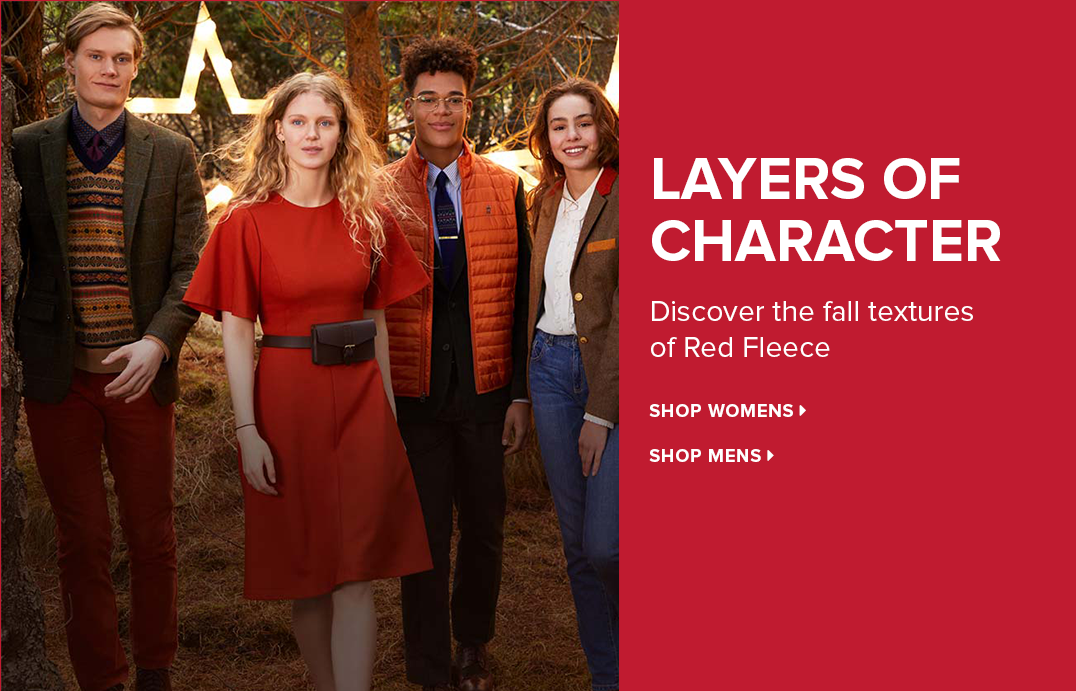 Layers of Character - Discover the fall textures of Red Fleece.