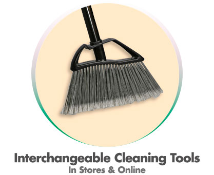 Interchangeable cleaning tools