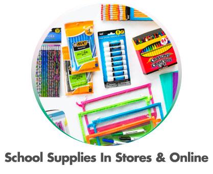 School Supplies In Stores & Online