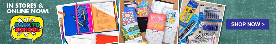 Online Now! Shop Back-to-School Supplies!