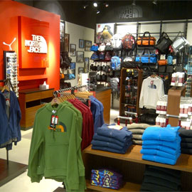 The North Face store image. Your local sporting goods store in Mirabel,