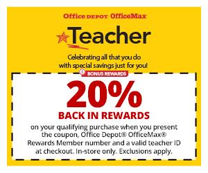 Teacher Rewards at Office Depot