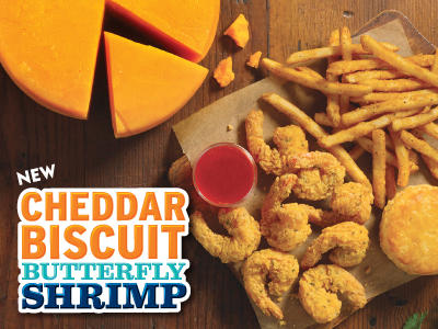 Cheddar Biscuit Butterfly Shrimp