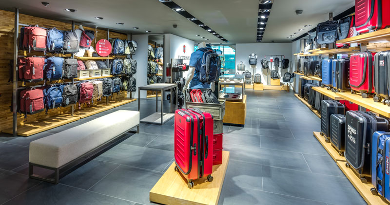 Store interior of Victorinox Flagship Store Geneve, Genève