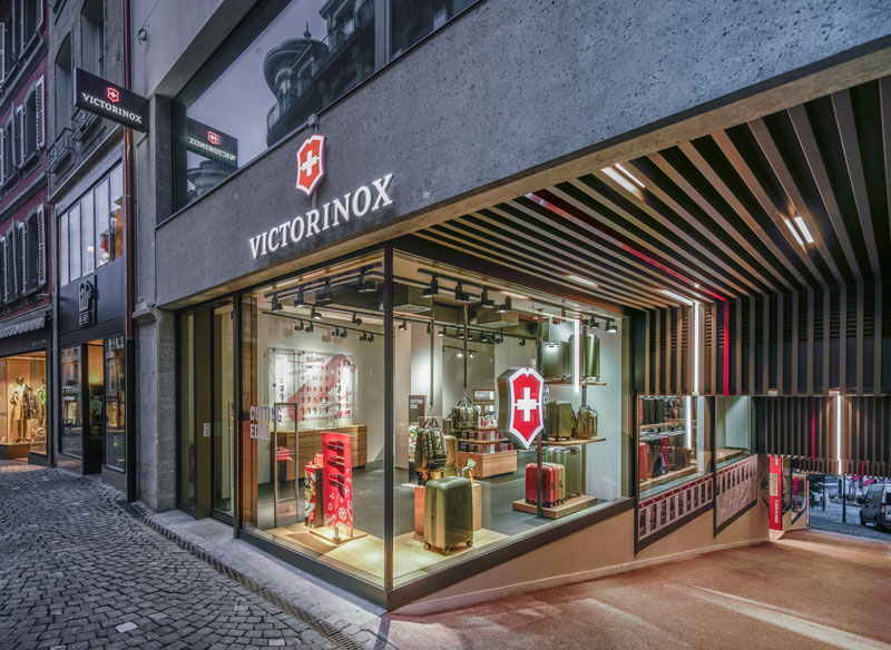Store interior of Victorinox Store Lausanne, Lausanne